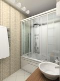 3D render modern interior of bathroom Stock Photo