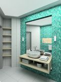 3D render modern interior of bathroom Royalty Free Stock Images