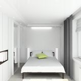 3D render modern interior of bedroom Stock Photo