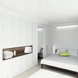 3D render modern interior of bedroom Stock Images