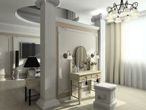 3D render modern interior of bedroom Stock Image