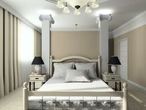 3D render modern interior of bedroom Royalty Free Stock Photography