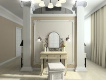 3D render modern interior of bedroom Stock Photography
