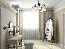 3D render modern interior of bedroom Stock Image