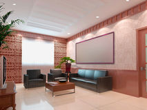 3d render modern interior of living-room Stock Images