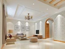 3d render modern interior of living-room Stock Image