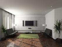3D render modern interior of living-room Stock Images