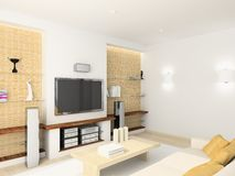 Free 3D Render Modern Interior Of Living-room Royalty Free Stock Photos - 4714258