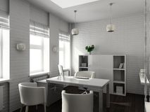 3D render modern interior of office Stock Image