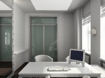 3D render modern interior of office Stock Photo