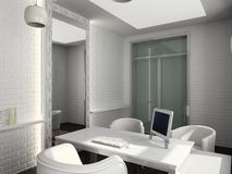 3D render modern interior of office Stock Images