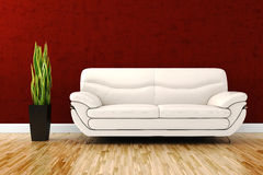 3d render of a modern interior room Stock Image