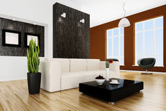 3d render of a modern interior room Stock Photography
