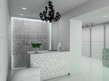 3D render modern interior of shop Stock Photo