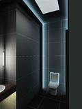 3D render modern interior of toilet Royalty Free Stock Photos