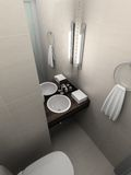3D render modern interior of toilet Stock Photo
