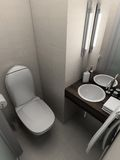 3D render modern interior of toilet Royalty Free Stock Image