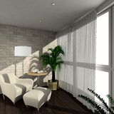 3D render modern interior of verandah Royalty Free Stock Photos