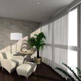 3D render modern interior of verandah. Modern design interior of verandah. 3D render Royalty Free Stock Photos