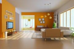 3d render modern living room Stock Photography