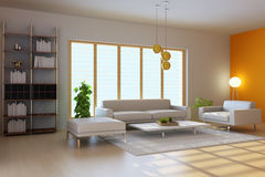 3d render modern living room Stock Photography