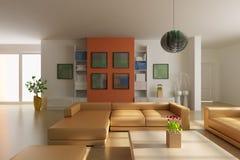 3d render modern living room Royalty Free Stock Images