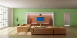 3d render modern living room Stock Photo