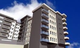3D render of modern residential building Stock Images