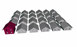 3D render of modern residential houses Royalty Free Stock Photos
