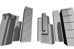 3D render of modern skyscrapers Stock Photo