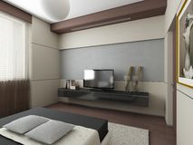 3d Render Of A Modern Interior.exclusive Design Royalty Free Stock Photo