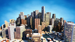 3D Render Of City Stock Photography