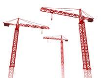3D Render Of Cranes Stock Images