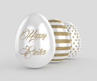 Free 3d Render Of Easter Glitter And Pearl Eggs Stock Images - 86384994