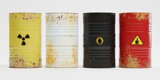 Free 3D Render Of Rusty Barrels Stock Photos - 148972703