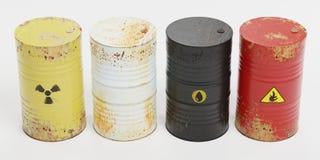 Free 3D Render Of Rusty Barrels Stock Image - 149182311