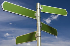 3D Render Of Signs In Front Of A Blue Sky Royalty Free Stock Image