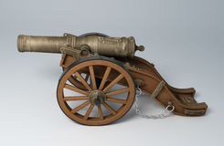 3D render of an old cannon Royalty Free Stock Photo