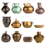 3d render of old vases Stock Photos