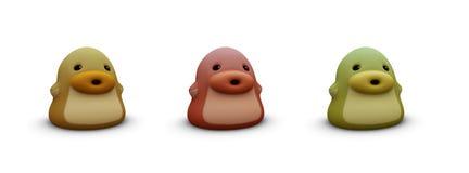 3d render of orange cute little baby creature Stock Image