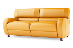 3D render orange sofa on a white background Stock Images