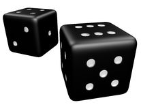 3d Render of a Pair of Dice Royalty Free Stock Images