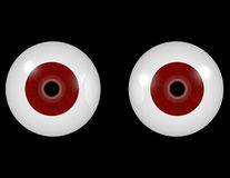 3d Render of a Pair of Red Eyes Royalty Free Stock Photography