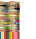 3d render of pencil in different colors Royalty Free Stock Photo