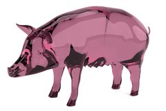 3d render of pig statue Stock Photos
