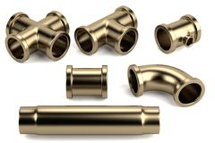 3d render of pipes Stock Image