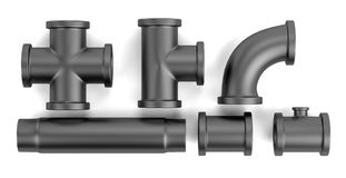 3d render of pipes Stock Photo