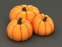 3d render of pumpkins Royalty Free Stock Images