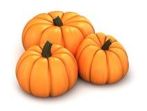 3d render of pumpkins vector illustration