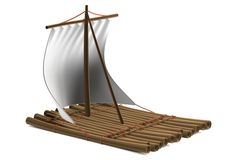 3d render of raft Stock Image